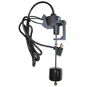Float Switch,Vertical,1/2 HP,Cord 10 Ft