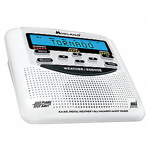 Table Top Weather Radio,White