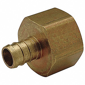 "Low Lead Brass PEX and Pipe Adapter, PEX x FNPT Nonswivel Connection Type, 1"" PEX Size"