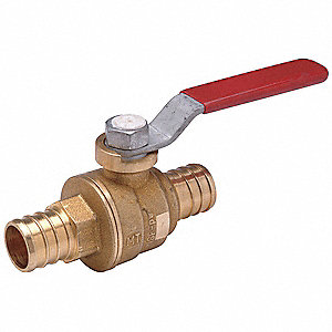 LL Brass Ball Valve,Inline,PEX,1/2 In