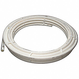 PEX Tubing,White,1-1/2In,100Ft,100psi