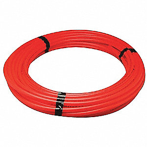 PEX Tubing,Red,1/2In,100Ft,100psi