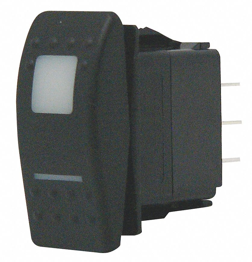 Carling Technologies Lighted Rocker Switch  Contact Form  Spdt  Number Of Connections  4