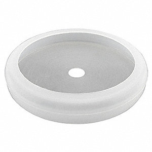 "2-1/32"" Magnet Rubber Boot Cover, Hole Dia. 3/16"", Transparent White Rubber, 4 PK"