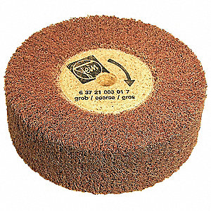 "6"" Unmounted Lamellar Flap Wheel With Arbor Hole, 2"" Width, Non-Woven, Fleece, 40 Grit, Coarse"