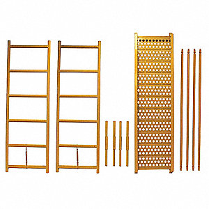 "Height Extension Kit, 78"" Height, 19"" Width, 6 ft. Length, 550 lb. Load Capacity"