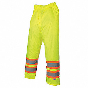 Hi-Vis Waist Pant,Waterproof,Green,XL