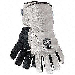 Welding Gloves,MIG/Stick,Side Split,PR