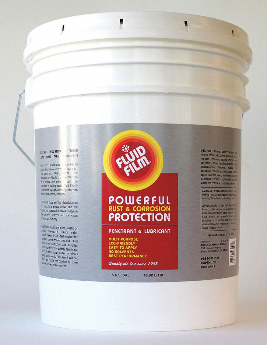 fluid film corrosion inhibitor wet lubricant film not rated max operating temp 5 gal pail. Black Bedroom Furniture Sets. Home Design Ideas