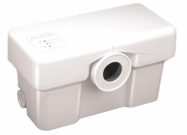 LIBERTY PUMPS Macerating Toilet System, HP 1/2 - 10V109 ...