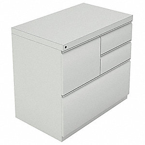 Combination File Cabinet,Grey