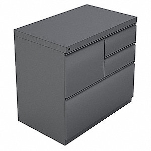 Combination File Cabinet,Charcoal