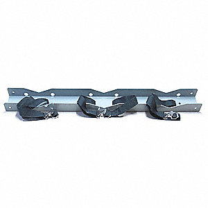"Steel Cylinder Bracket, 4 to 12"" Diameter, 3 Cylinder Capacity"