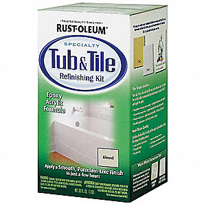 Almond Tub and Tile Refreshing Kit, Gloss Finish, 140 to 220 sq. ft/gal. Coverage, Size: 1 qt.