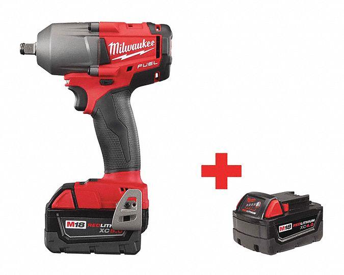 Milwaukee Cordless Impact Wrench Kit 18 0v 114z47 2861