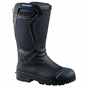 Men's Insulated Structural Firefighting Boots, Size 9-1/2, Footwear Width: X, Footwear Closure Type: