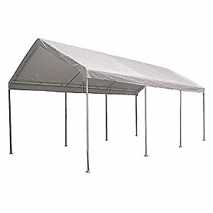 "White Universal Multi-Use Canopy, 20 ft. Length, 10 ft. 8"" Width, 9 ft. 9"" Center Height"