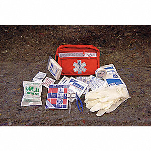 First Aid Kit,Bulk,Red,45 Pcs