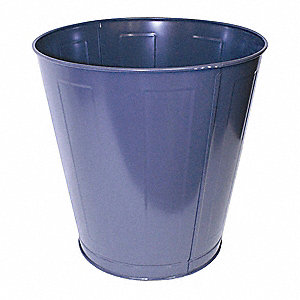 11.5 gal. Round Brown Open-Top Trash Can