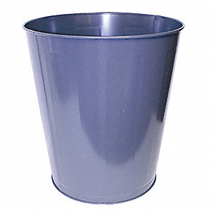 11.5 gal. Round Gray Open-Top Trash Can