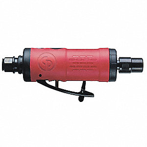 "6-13/32"" General Duty Straight Air Die Grinder, 0.32 HP"