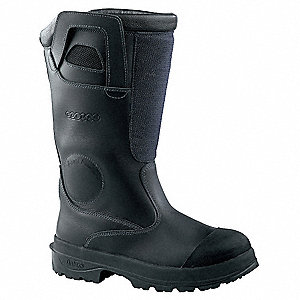 Men's Insulated Structural Firefighting Boots, Size 7, Footwear Width: D, Footwear Closure Type: Pul