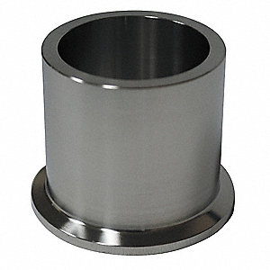 "T316L Stainless Steel Heavy Wall Tank Ferrule, Clamp Connection Type, 2-1/2"" Tube Size"