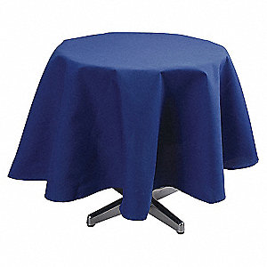 Tablecloth,72 Dia.,Royal Blue