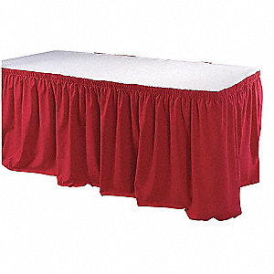13 ft. Red Table Skirt