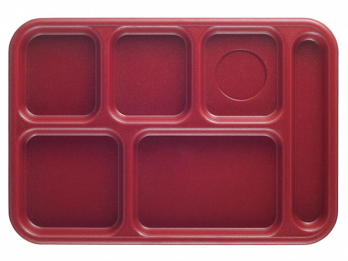 Cambro Tray W Compartments 10x14 Cranberry 11n692 Eabct1014416 Grainger