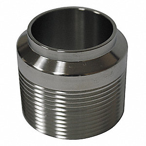 Male Adapter, T304 Stainless Steel, MNPT x Butt Weld Connection Type