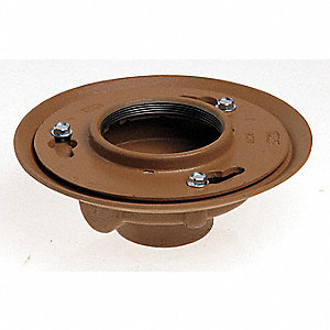 Floor Drain Body,4In Pipe,9In Dia