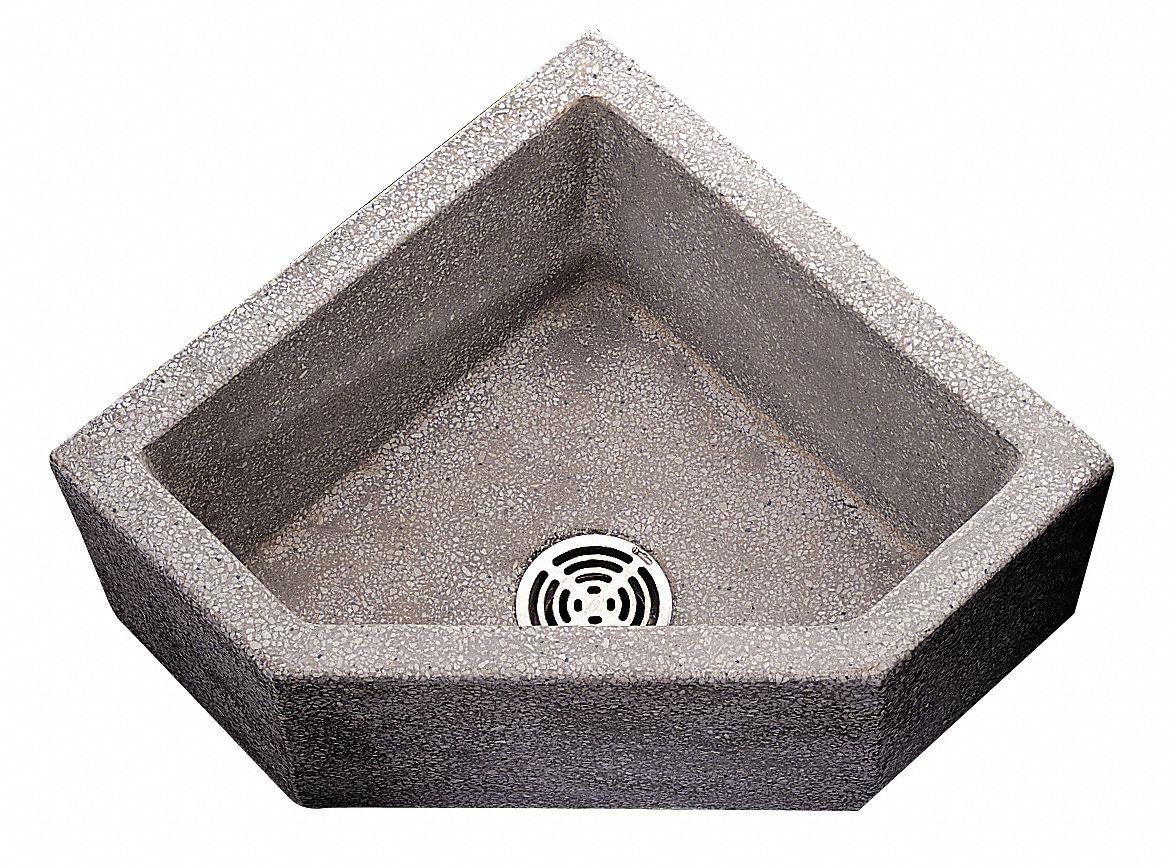 """Fiat Mop Sink >> FIAT PRODUCTS 36"""" x 36"""" x 12"""" Black/White Corner Mop Sink ..."""