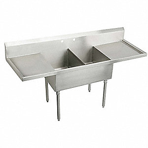 Stainless Steel Scullery Sink, Without Faucet, 14 Gauge, Floor Mounting Type