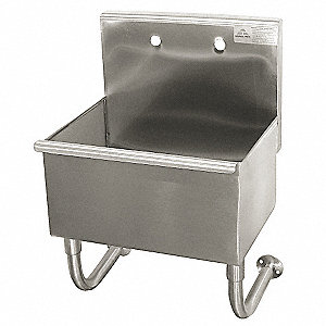 Utility Sink,Stainless Steel,18 In L