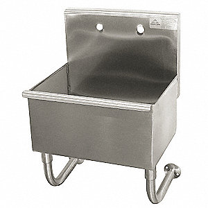 Stainless Steel Wall Mount Utility Sink : TABCO Wall-Mount Utility Sink, 16