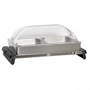 Buffet Server,w/ Rolltop Lids,2 Pans