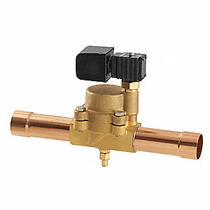 Refrigeration Solenoid Valve,1-1/8 In
