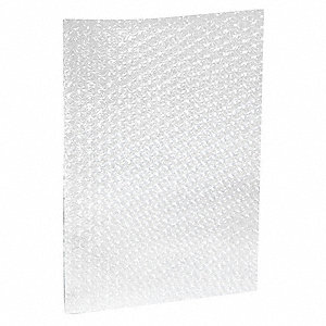 "Clear Color Bubble Bags, 15"" Length, 12"" Width, 3/16"" Bubble Height"