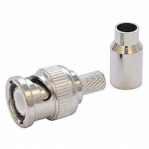 Cable Coupler,BNC/Male,RG59 Coax,PK10
