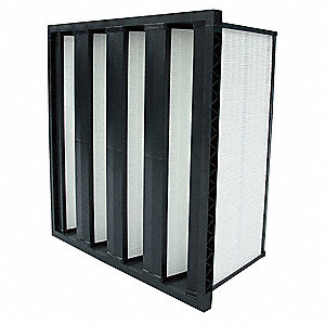 V-Bank Air Filter,20x24x12,MERV 16