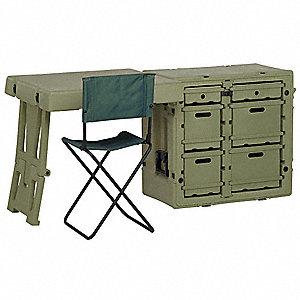 "Olive Drab Green Admin Desk, 30-3/4"" Overall Length, 21"" Overall Width, 28-1/2"" Overall Depth"