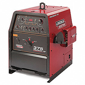 TIG Welder, Precision TIG 375 Series, Input Voltage: 208/230/460VAC, TIG, Stick