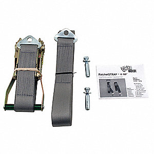 Ratchet Strap,60 In,Gray