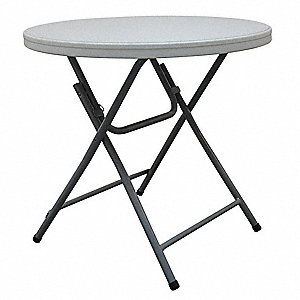 Folding Cocktail Table,32 in. Dia.,White