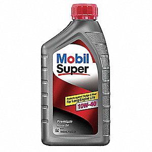 Mobil Super 10W-40,gals Engine Oil, 1 qt