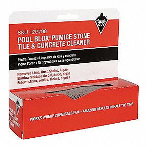 "Gray, Pumice Stone Cleaner Stick, Length 5-3/4"", Width 1-1/2"", 1 EA"
