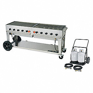 Gas Grill w/Cart,LP,BtuH 159000