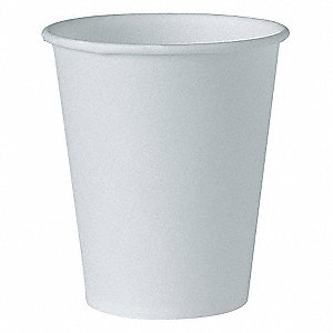 4 oz. Disposable Cold Cup, Treated Paper, White, PK 5000