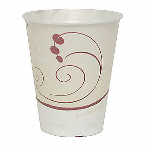 10 oz. Disposable Cold Cup, Polystyrene Foam Laminated, White, PK 300